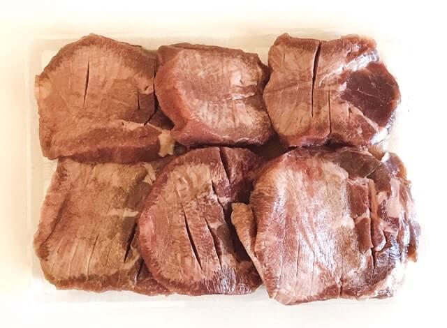 越前かに職人甲羅組の『プレミアム牛たんステーキ500g(塩味)』