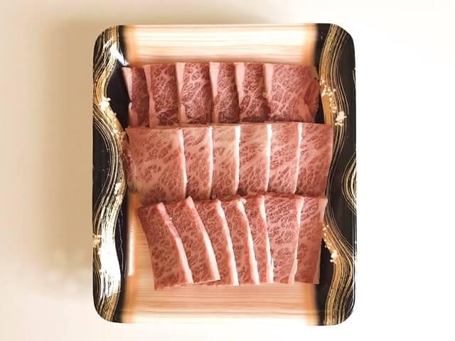 『和牛入り焼肉3種盛(1kg)』の黒毛和牛カルビ300g